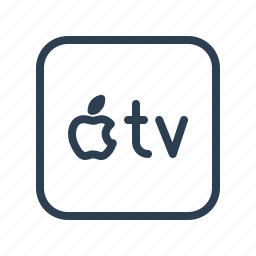 apple, apple tv, atv, device, technology, television, tv icon