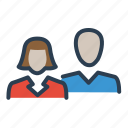 couple, customers, group, users icon