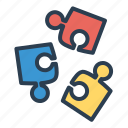 brainstorming, concept, effective, problem solution icon