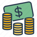 bank, business, cash, earn, ecommerce, income, money icon