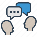 chat, communication, conference, dialogue, discuss, meeting, talk icon