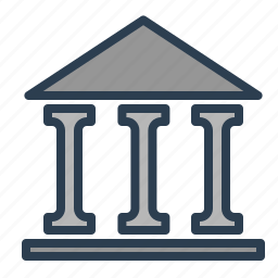 bank, business building, city, institution, legal, location icon