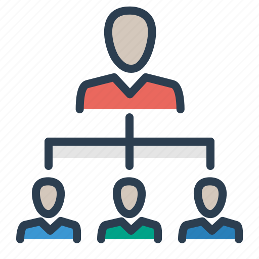 hierarchy, leader, leadership, management, manager, structure, team icon