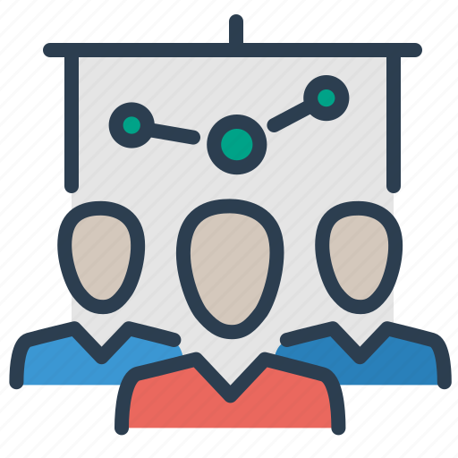 conference, meeting, presentation, training icon