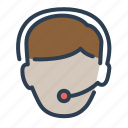 assistant, business, consultant, customer service, headphones, help, technical support icon