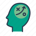 brainstorming, efficiency, head, productivity, strategy icon