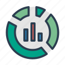 analytics, pie chart, report, statistics icon