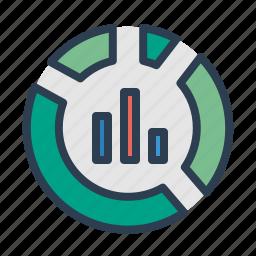 analytics, bar, diagram, graph, pie chart, report, statistics icon