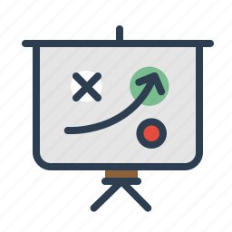 blackboard, conference, efficiency, plan, scheme, strategy, training icon