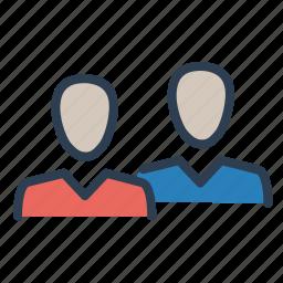 businessman, clients, couple, customers, men, partnership, team icon