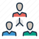 company, connection, hierarchy, leader, management, team building, teamwork icon