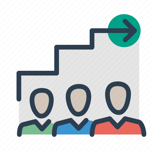 career, competition, employee, growth, job, ladder, team hierarchy icon