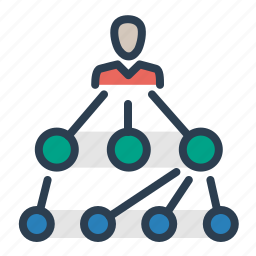 hierarchy, leadership, management, scheme, structure, team, teamwork icon