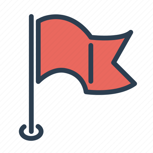 deadline, finish, flag, stop point icon