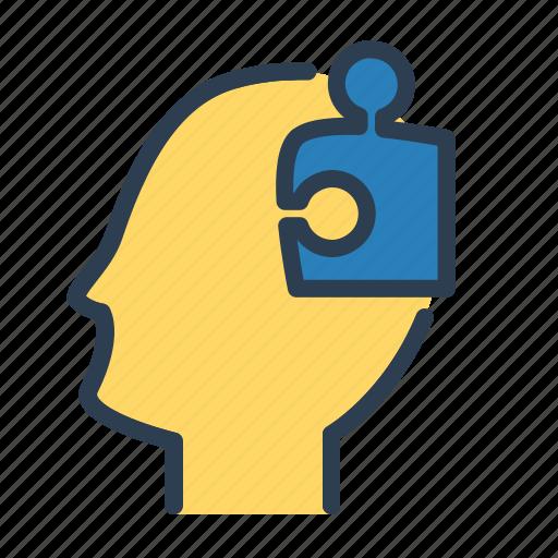 brainstorm, creativity, head, human mind, productivity, puzzle, thinking icon