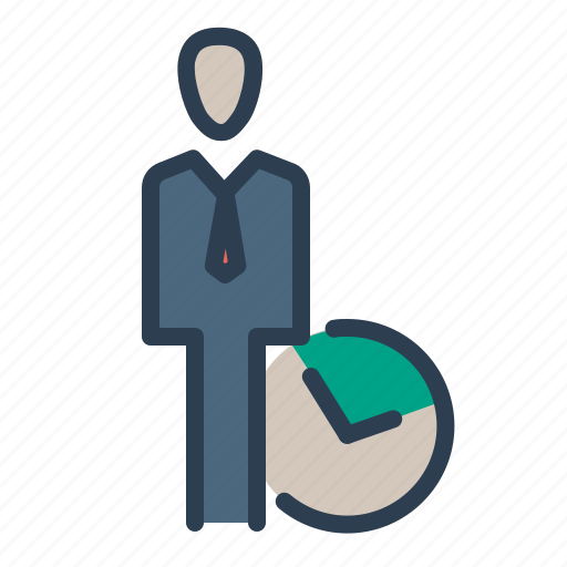 businessman, clock, deadline, management, productivity, time, work icon