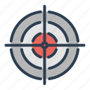 aim, bullseye, dart, goal, success, target, targeting icon