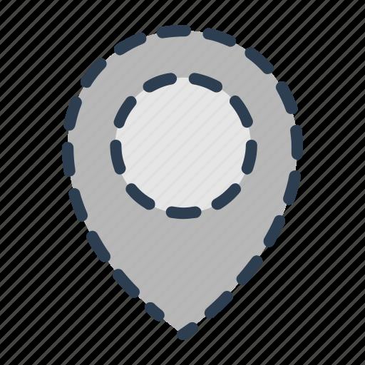 delete, hidden, location, marker, pin, pointer, remove icon