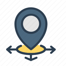 arrows, directions, location, marker, navigation, pin, pointer icon