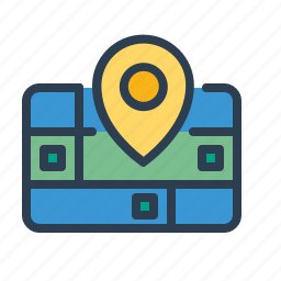 city, location, navigation, pin, pointer, road, street icon