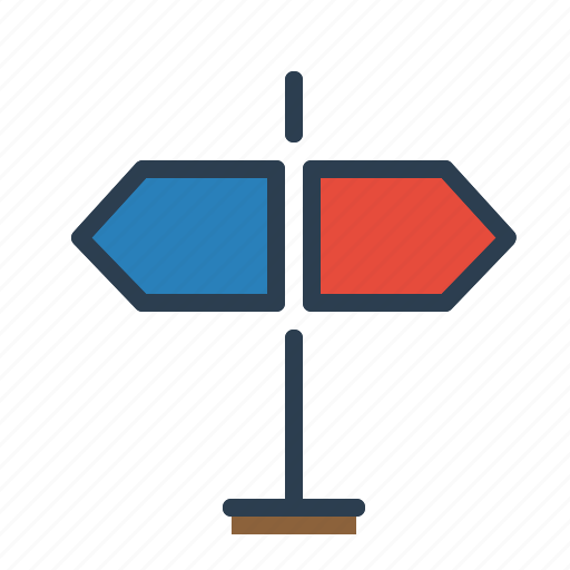 arrows, country, direction, navigation, pointer, signpost, streets icon
