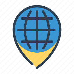 earth, globe, location, map, pin, pointer, world icon
