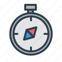 compass, destination, navigate, position icon