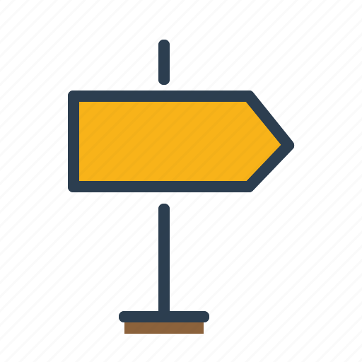 arrow, direction, right, signpost icon