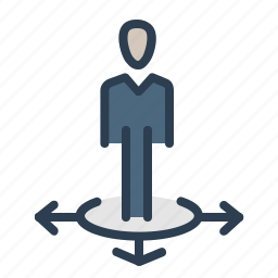business, direction, location, man, solution, stand, ways icon