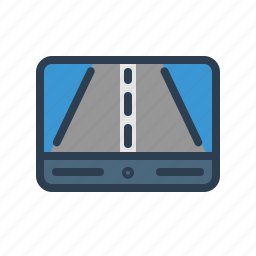 device, direction, gps, navigator, positioning system, road, technology icon