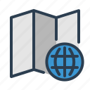 earth, globe, location, map, world icon