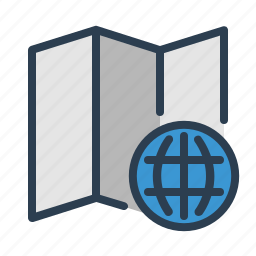 earth, globe, location, map, place, planet, world icon