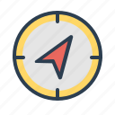 compass, direction, navigate, navigation icon