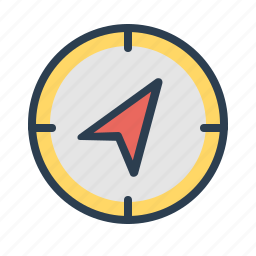 arrow, compass, destination, direction, location, navigate, navigation icon