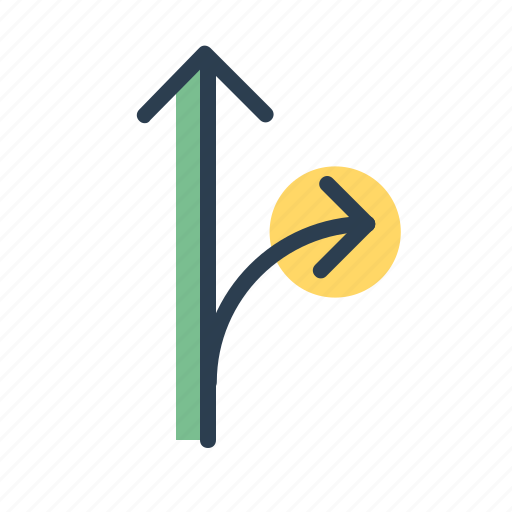 arrows, direction, location, navigation, path, road, sitemap icon