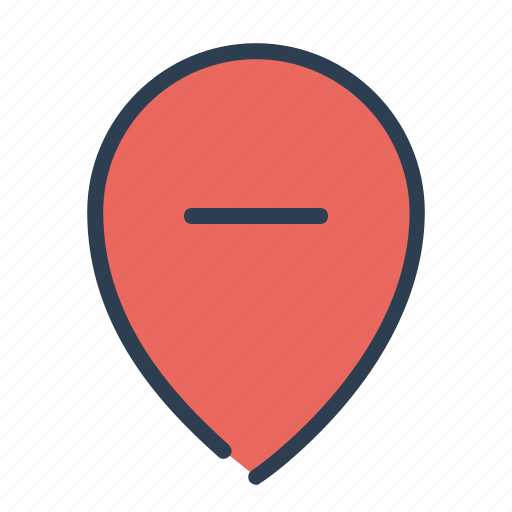 delete, location, map, marker, minus, pin, remove icon