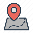 location, map, path, pin, route icon