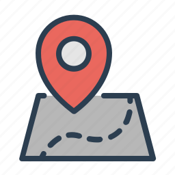 location, map, path, pin, route, travel, way icon