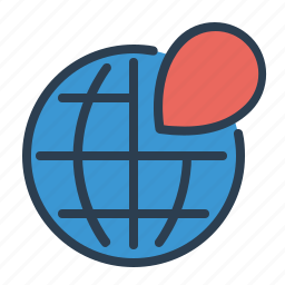 global market, globe, location, map, marker, pin, world icon