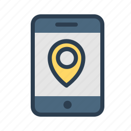 direction, locate, location, marker, navigation, pin, tablet icon