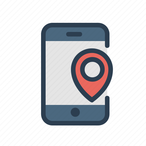 direction, location, marker, mobile, navigation, pin, smartphone icon