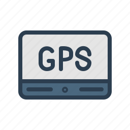 device, gps, locate, location, navigation, technology, tracker icon