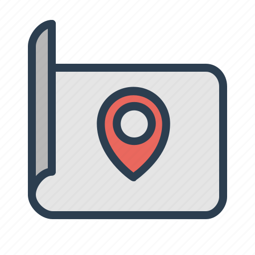 document, location, map, marker, navigation, pin, pointer icon