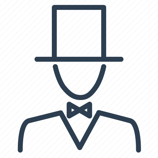 cylinder, fashion, gentleman, hat, man, manners, respect icon