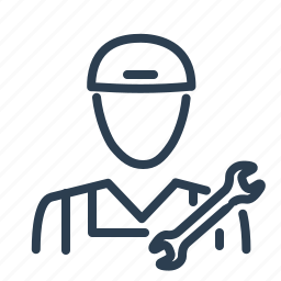 fix, labour, man, repair, service man, worker, wrench icon