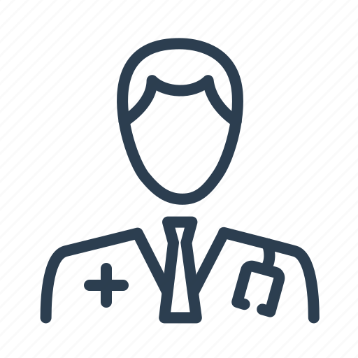 doctor, health care, hospital, man, medical help, physician, stethoscope icon
