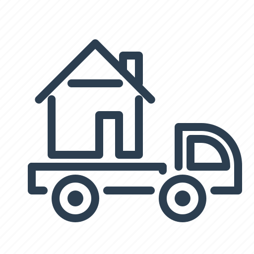 auto, building, car, property, real estate, transfer, transportation icon