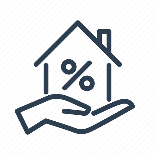 home loan, investment, percent, price, property, real estate, sale icon