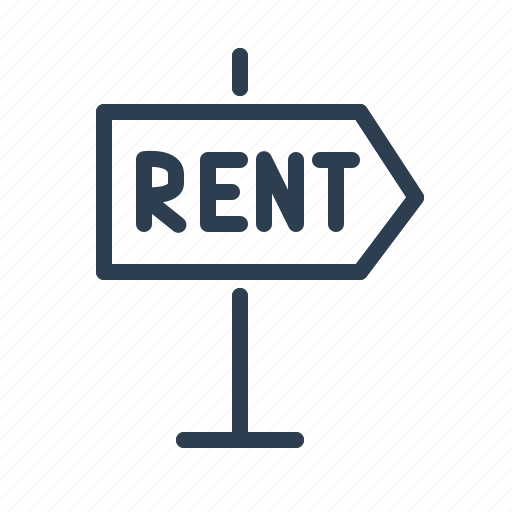 direction, for rent, house, information, property, real estate, rent apartment icon