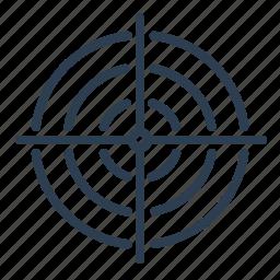 aim, bullseye, dart, goal, success, target, targeting icon